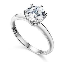 1.50 Ct Round Cut Solitaire Engagement Wedding Promise Ring