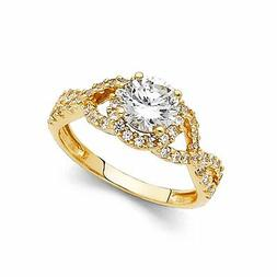 1.65 ct 14K Yellow OR White Gold SOLID Wedding Engagement Ri