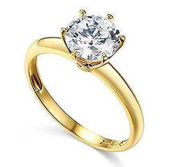 1 Ct Round Cut Solitaire Engagement Wedding Promise Ring Sol