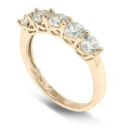 14K Solid Yellow OR White Gold 2.5MM CZ Anniversary Wedding