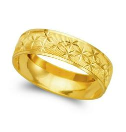 14K yellow solid Gold band Ring Men's Women's Wedding Engage