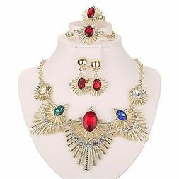 Moochi 18K Gold Plated Colorful Beads Africa Style Necklace