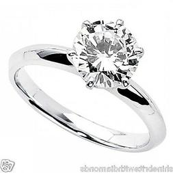 3 Ct Round Cut Solitaire Engagement Wedding Promise Ring Sol