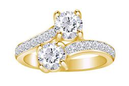 2 Ct For Ever Us Two Stone Engagement Diamond Solitaire Ring