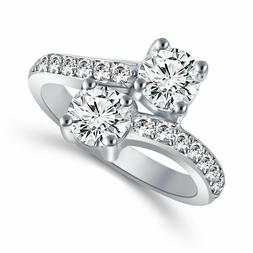 2 Ct Forever Us Two Stone Engagement Diamond Solitaire Ring
