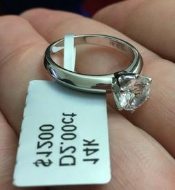 2 CT ROUND CUT DIAMOND SOLITAIRE ENGAGEMENT RING 14K WHITE G