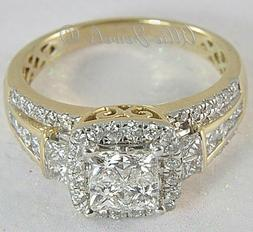 3.24ct Princess cut Invisible Diamond Engagement Ring Solid
