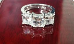3.70CT Charles and Colvard Forever One Square Cut Moissanite
