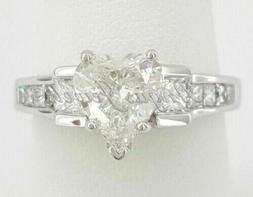 3.71ct Heart Shaped Solitaire Diamond Engagement Ring Solid