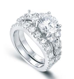 925 STERLING SILVER WEDDING BAND ENGAGEMENT RING RINGS SET S