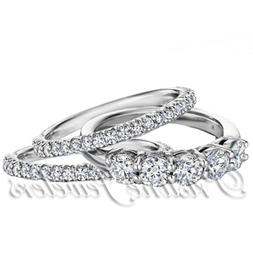 925 Sterling Silver Women's Wedding Band Accent Bridal Engag