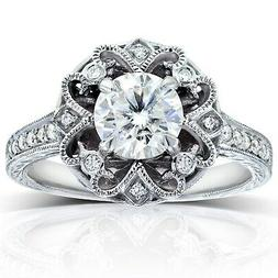 Annello by Kobelli 14k White Gold 1 1/5ct TGW Forever One
