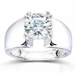 Annello by Kobelli 14k White Gold 2ct Solitaire Forever One