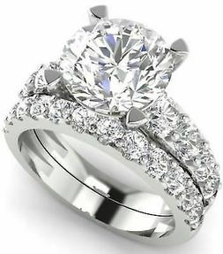 Certified 4.00Ct Round Diamond Engagement Wedding Ring in So