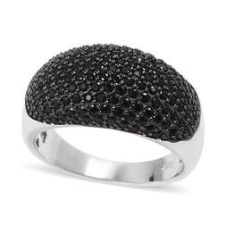 Cluster Ring Silver Two-Tone Plated Round Spinel for Women C