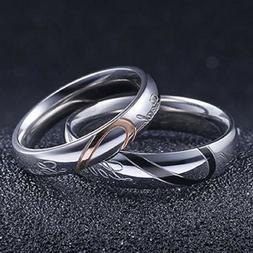 Couple's Matching Heart Ring, REAL Love His or Hers Wedding