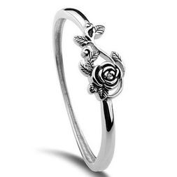 Fashion Flower Shaped 925 Silver Engagement Rings For Women