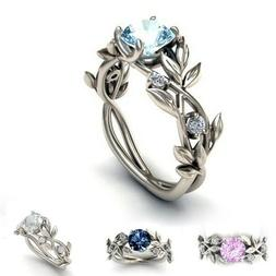 Fashion Jewelry Sterling Silver Colored Cubic Zirconia Women