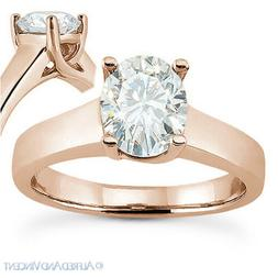 Forever ONE D-E-F Oval Cut Moissanite Solitaire Engagement R