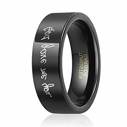 God Gave Me You Tungsten Carbide Wedding Band Ring for Men W