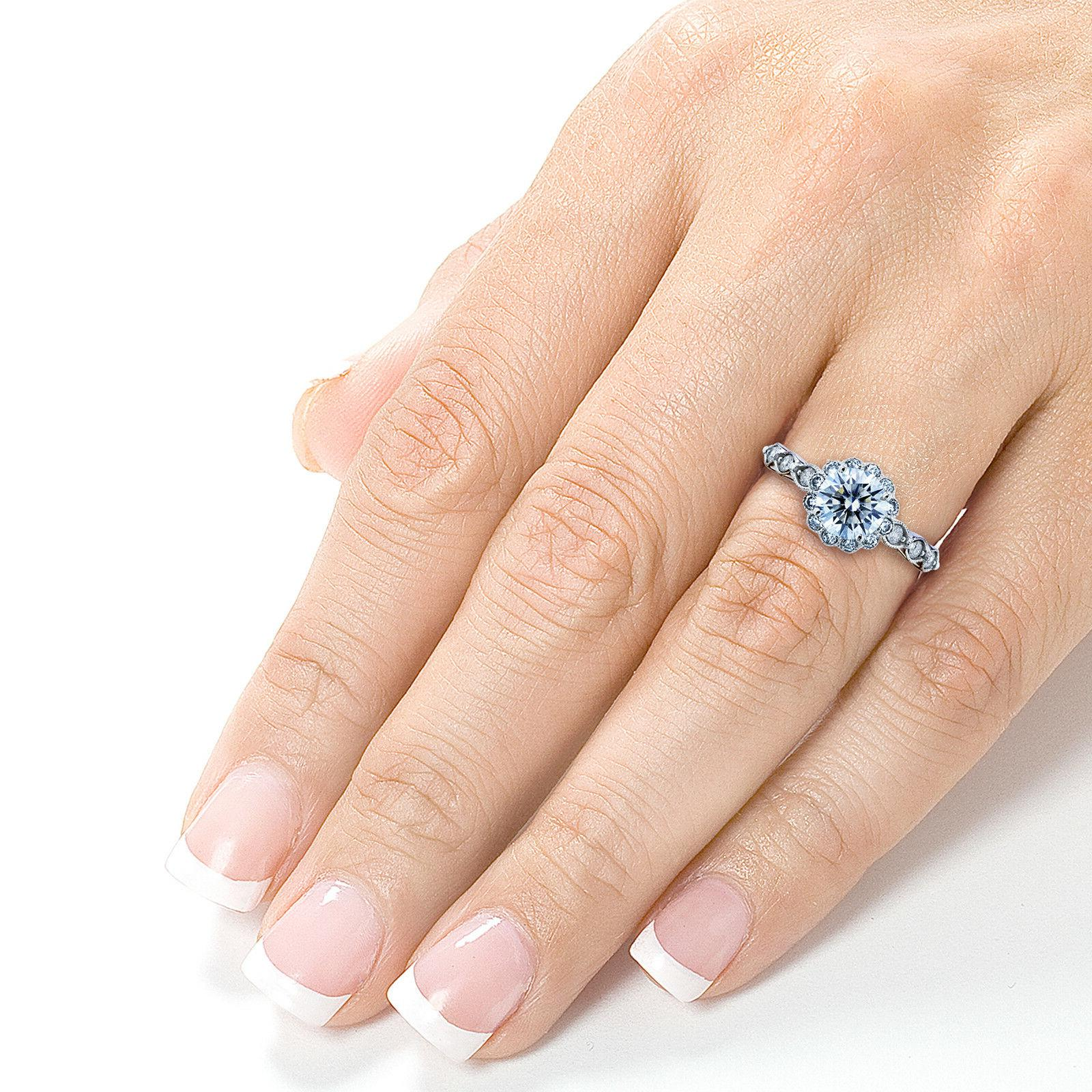 Kobelli 1-1/3ct TCW and Ring Solid