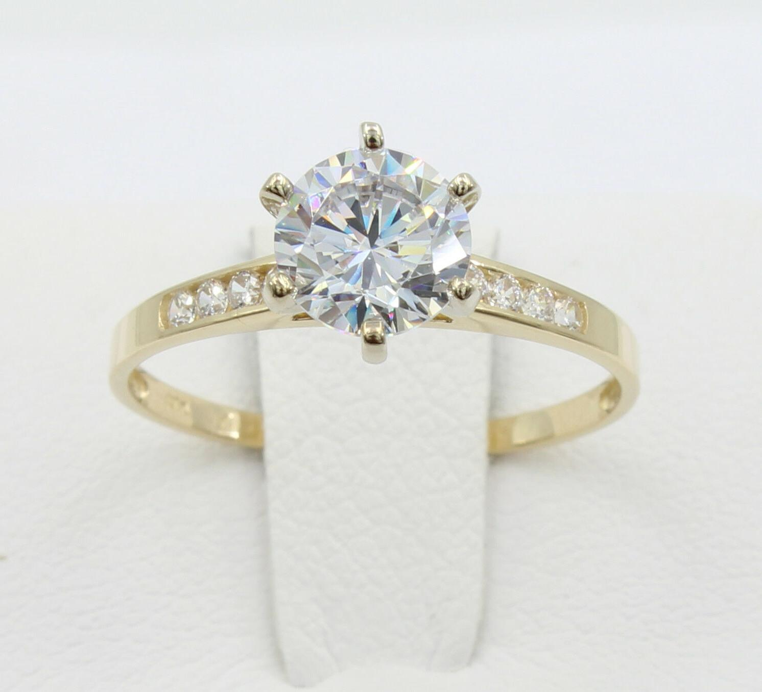 1.25 Ct Gold Cathedral Wedding Promise Ring