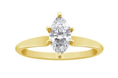 1.50 Solitaire Ring in Solid Gold