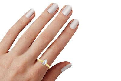 1.50 Marquise Solitaire in Solid 14K Yellow Gold