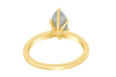1.50 Ct Marquise Cut Solitaire Engagement in Solid 14K Yellow Gold