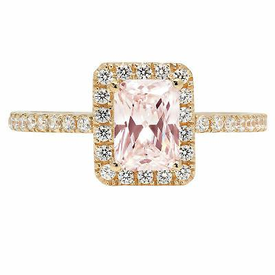 1.85 Emerald Pink CZ Statement Engagement Wedding Designer R