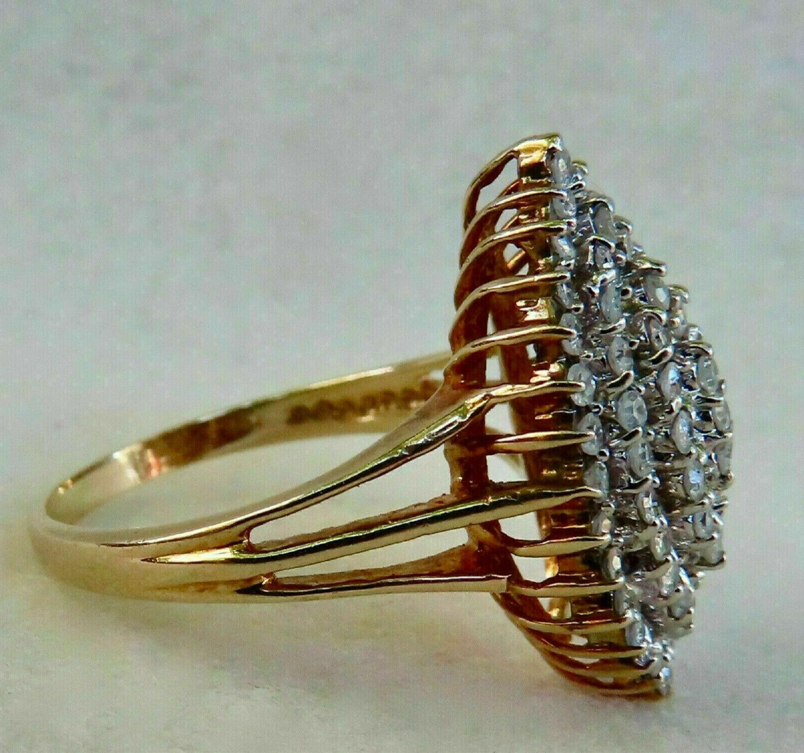 1.94ct Round cut Diamond Engagement Solid 14K Yellow Gold