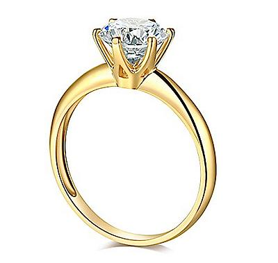 1 Ct Solitaire Engagement Gold