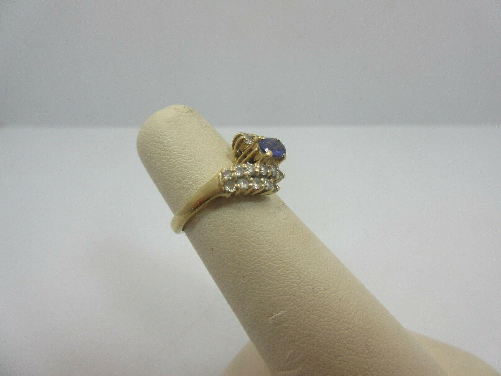 LeVian 14k OVAL Engagement RING size 5.5