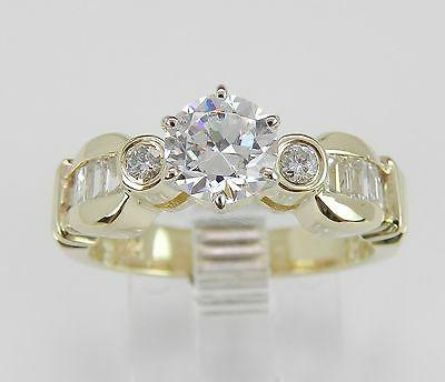 14k yellow gold engagement ring round cut