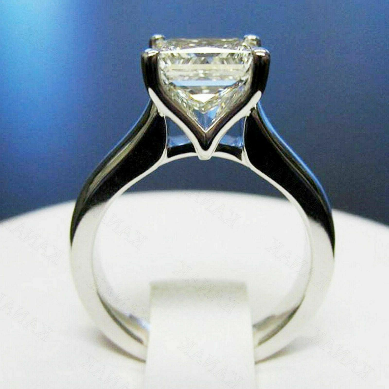 2.00 Ct Solitaire Engagement Solid 14k