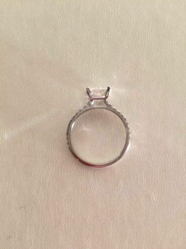 2.00 Cut French Pave Engagement Ring Gold