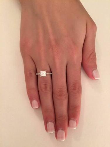 2.00 ct Cut French Engagement Ring Gold