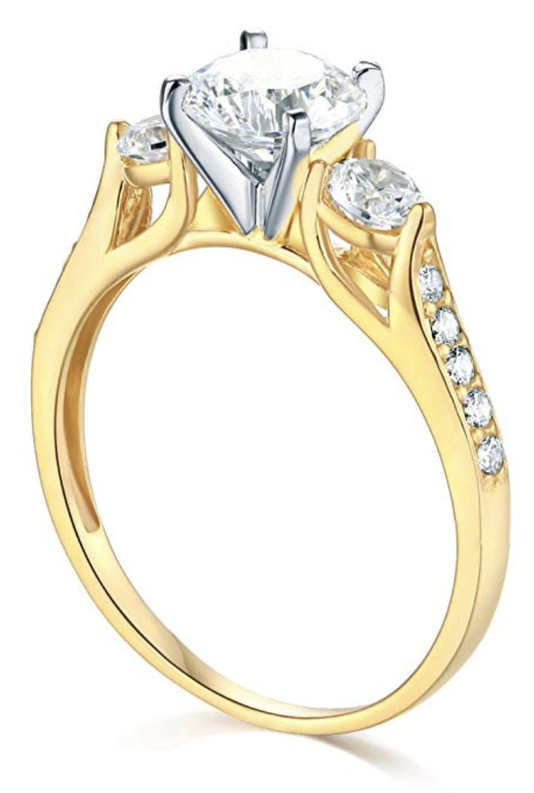 2.25 Ct Cut 3-Stone Engagement Real