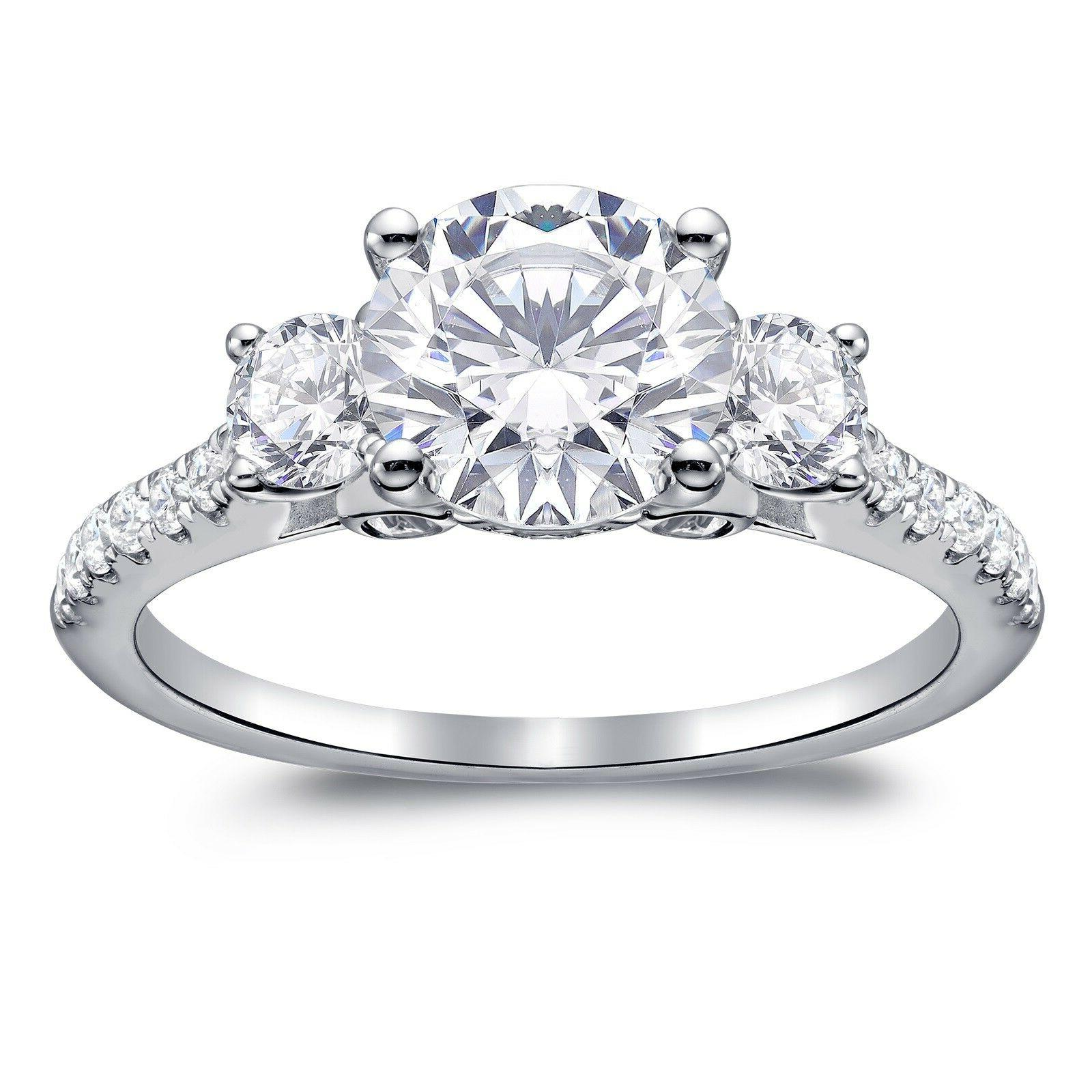 2.46 ct Created Engagement 14K
