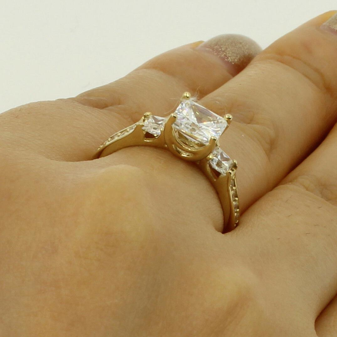 2.5 Ct 14K Yellow Gold Cut 3 Promise Ring