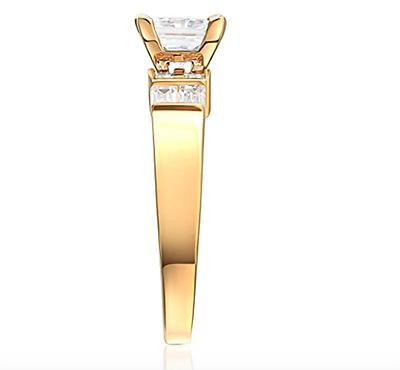 2.50 Ct Cut Solid 14K Yellow Ring