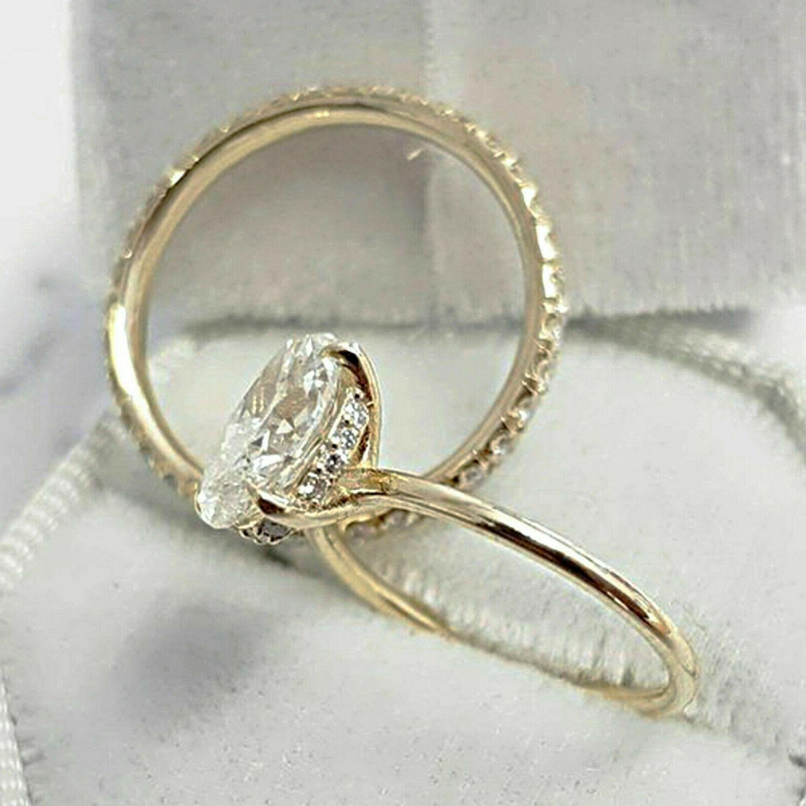 2.51Ct Oval Solitaire Diamond Engagement Ring Band
