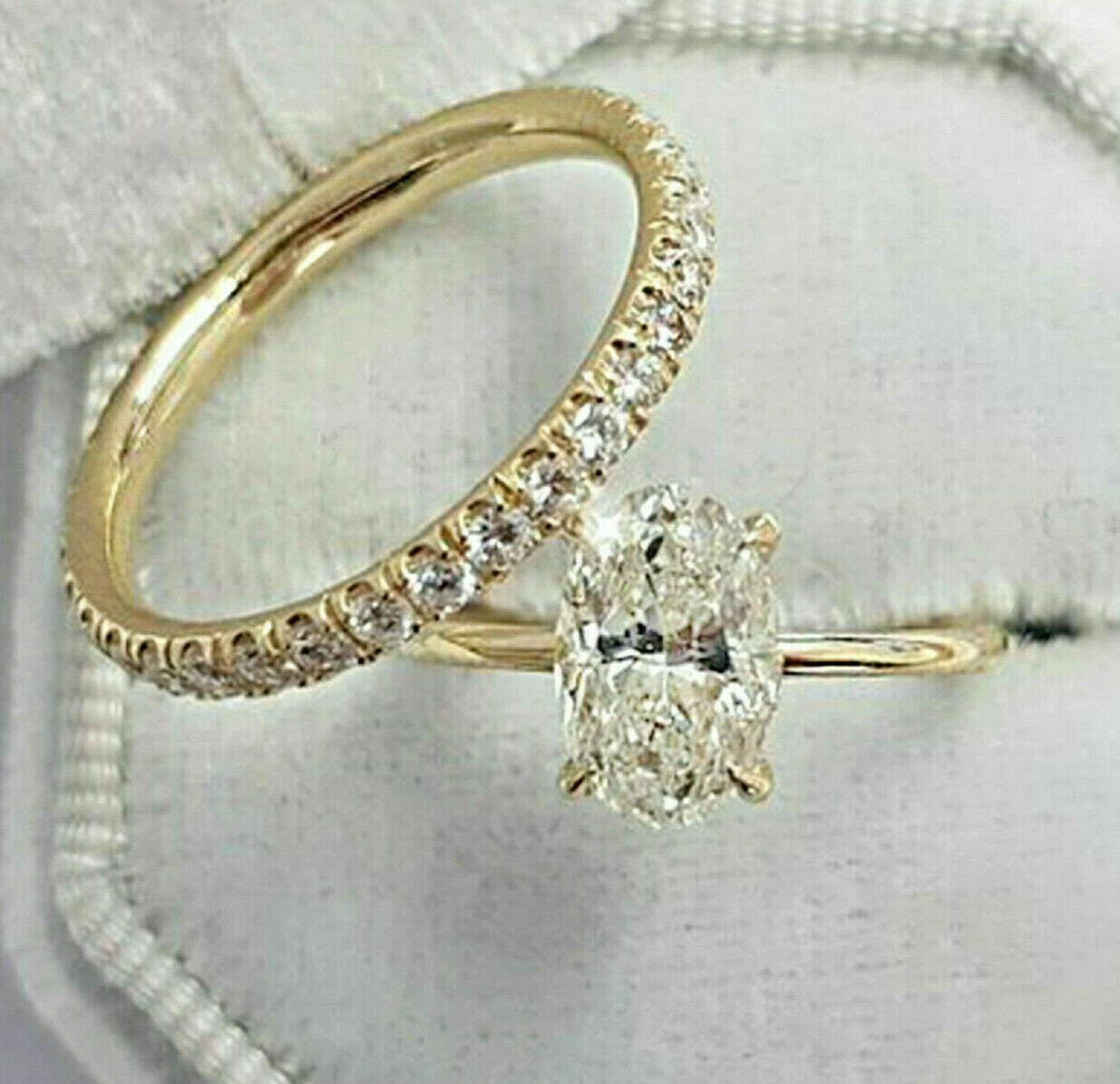 2 51ct oval cut solitaire diamond engagement