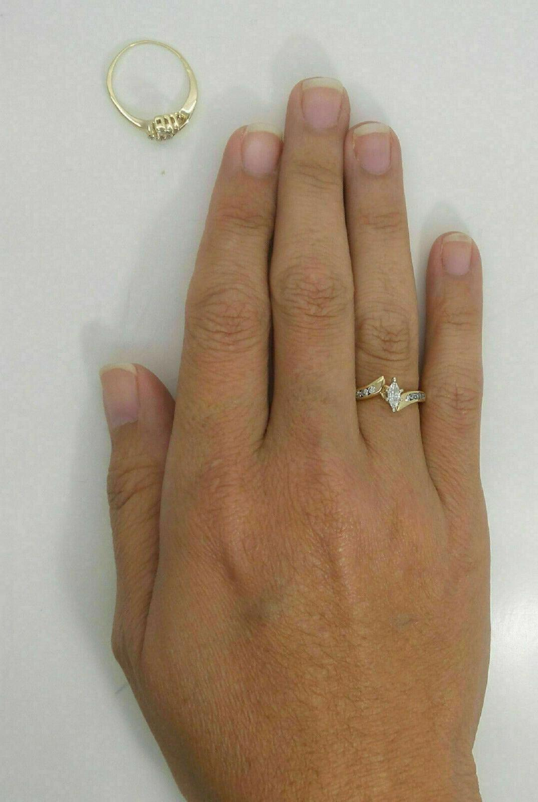 2.76Ct Marquise Engagement Wedding Band Solid Yellow
