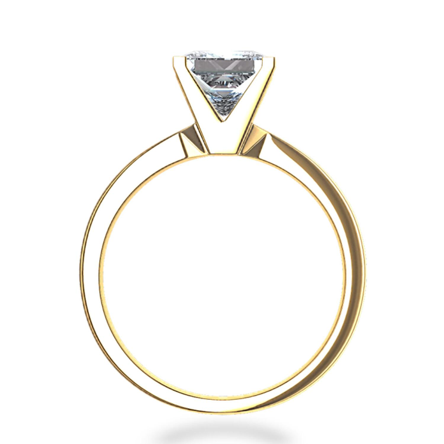 1.50 BRILLIANT Princess CUT SOLITAIRE REAL Yellow