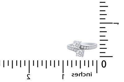 2 Ct Us Two Stone Engagement White
