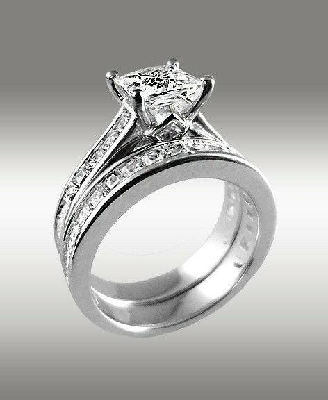 3.22Ct Ring Band Solid White Gold