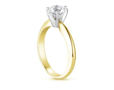 2.25 Round Engagement Solid 14K Gold