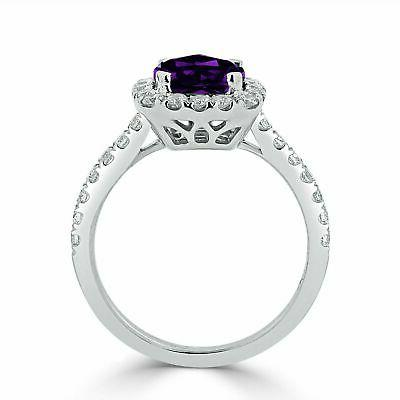 4ct Cut Amethyst Engagement Ring Over