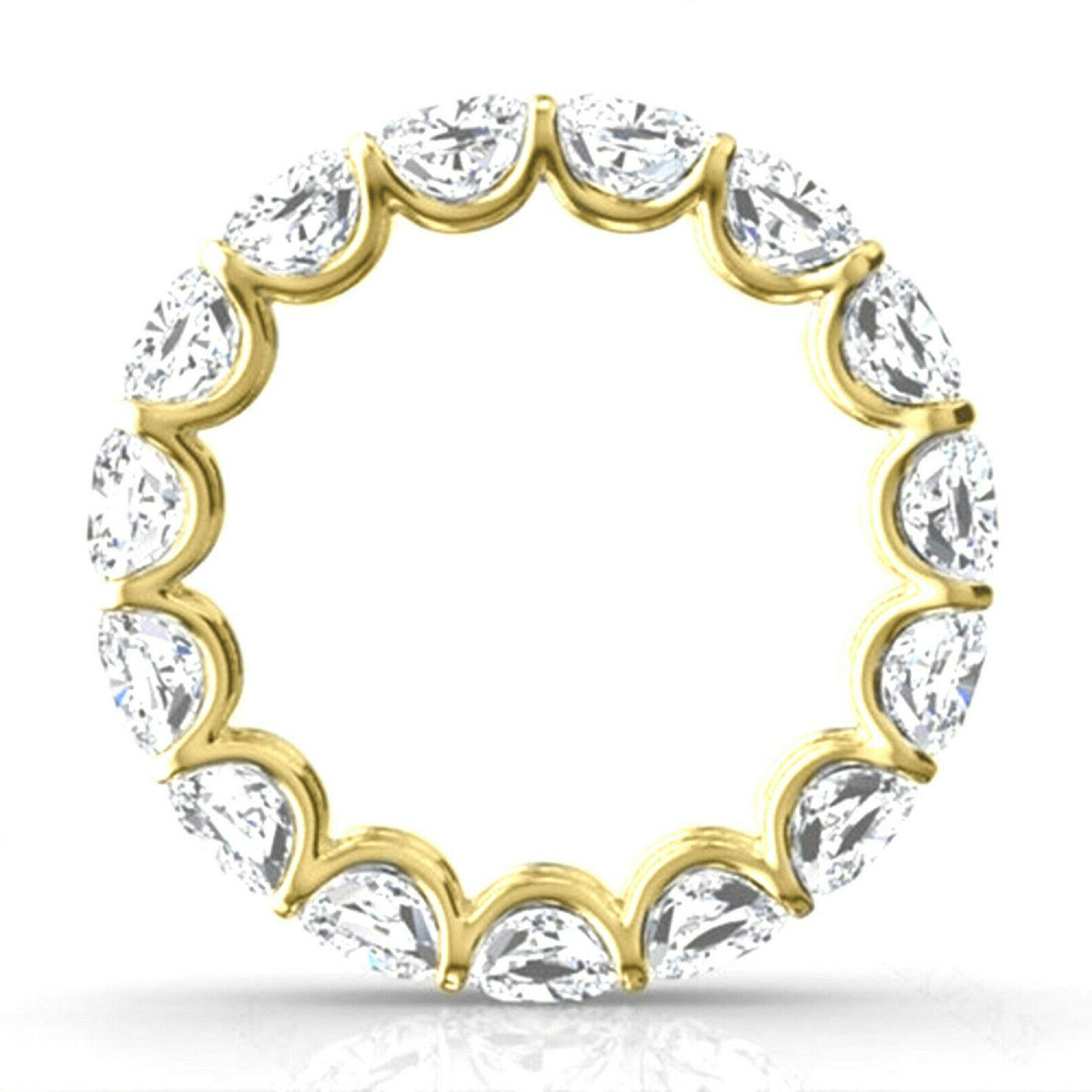 6.46ct Cushion Engagement Ring Solid 14k Yellow